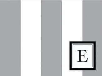 Modern Wide Stripe 'E' Smoke Monogram – 24 Cards – Blank Cards w/ Grey Envelopes Included Reviews