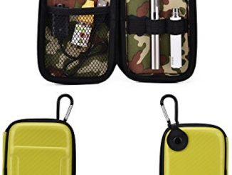 Vape & Mod Portable Travel Case Compatible with Hot Mini E-Smoke Vapor Stick |Semi-hard Protective Shell with Standing Capability & Carabiner Hook for Easy Attachment|Glossy Lime Green & Green Camo Reviews