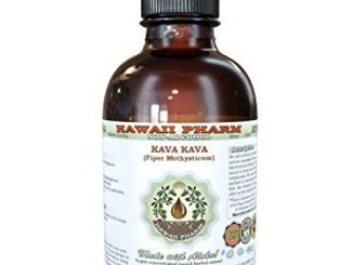 Kava Kava Alcohol-FREE Liquid Extract, Kava Kava (Piper Methysticum) Dried Root Glycerite Hawaii Pharm Natural Herbal Supplement 4 oz