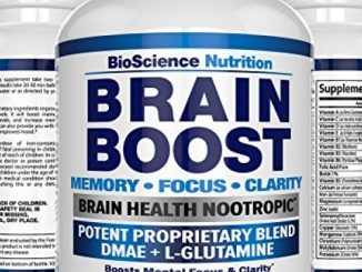 Brain Boost Nootropics for Memory, Focus, Clarity, Concentration, Mood, Alertness, Sharp Mind, Cognitive Function Enhancement – 41 Vitamins DMAE Herbal Nootropic Supplement – BioScience Nutrition USA