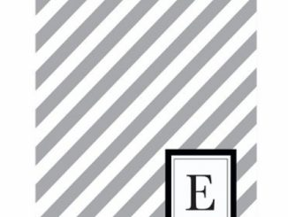 Modern Diagonal Stripe 'E' Smoke Monogram – 24 Cards – Blank Cards w/ Grey Envelopes Included
