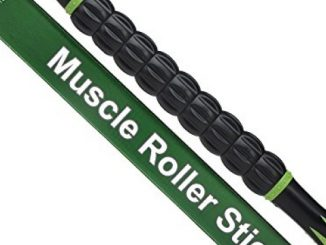 Idson Muscle Roller Stick for Athletes-18 Inches Body Massage Sticks Tools-Muscle Roller Massager for Relief Muscle Soreness,Cramping and Tightness,Help Legs and Back Recovery,Black Green