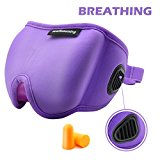 Sleep Mask for Summer, Sleeping Mask with Bleeder Vent Eye Mask for Summer (Purple)