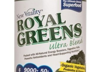 New Vitality Royal Greens Ultra Blend-green Superfood Powder, with All Natural Energy Boosters, Digestive Aids, Powerful Antioxidants and Heart Supporting Nutrition, 10.75 Oz. 30 Day Supply