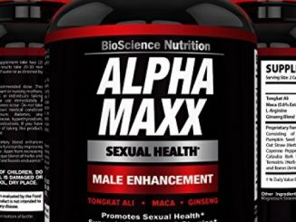 AlphaMAXX Male Enhancement Supplement – Ginseng, Muira Puama, Tribulus – 60 Herbal Pill – BioScience Nutrition