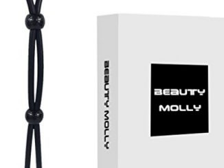 Beauty Molly Black Adjustable Penis Tie adult toys Erection Enhancin Cock Ring sex toys(2 adjuster)
