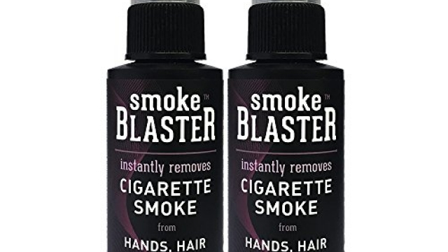 Smoke Blaster Safe & Natural Instant Cigarette Smoke Remover Spray for Hands, Hair & Clothing, 2 Count