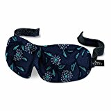 Bucky 40 Blinks Luxury Ultralight Comfortable Contoured Eye Sleep Mask/Blindfold for Travel & Sleep - Woodcut Floral