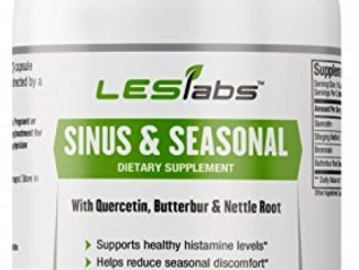 Sinus & Seasonal – Natural Supplement for Sinus and Nasal Health, Seasonal Discomfort and Healthy Histamine Levels – With Quercetin, Nettle Root and Butterbur – 60 Vegetarian Capsules Reviews