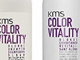KMS Color Vitality BLONDE Shampoo & Conditioner 25.3 oz / 750ml (with Sleek Compact Mirror)