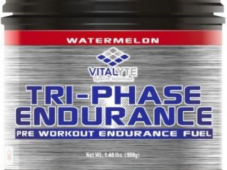 Natural Pre Workout Powder, Vitalyte Tri-Phase Endurance, 20 Servings Per Jar (Watermelon)