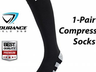 Compression Socks (Stripe Design) – Lightweight Compression Socks for Men & Women – Prevent Shin Splints, Calf & Leg Pain – Great for Workout Recovery – Endurance Shield 360 – Zero Risk Guaranteed!