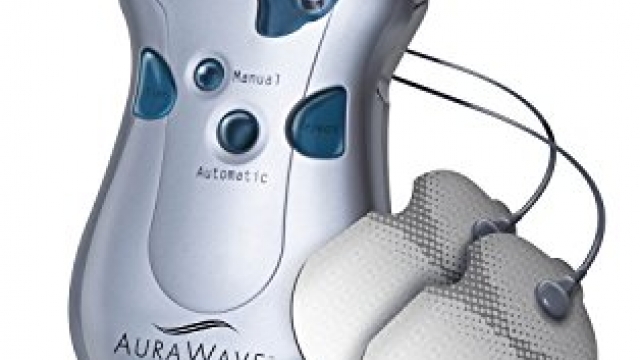 Endurance Therapeutics Aurawave TENS Unit Machine / Muscle Stimulator for Pain Management – Includes adjustable Back Relief Belt and adhesive electrode pads