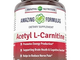 Amazing Formulas Acetyl L-Carnitine Dietary Supplement – 1000mg, 120 Tablets Per Bottle – Promotes Energy Production, Supporting Brain Heath & Cognitive Function, Helps To Reduce Nerve Pain.