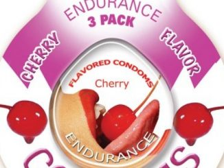 Hott Products Endurance Condoms, Cherry, 3 Count Package