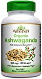 AyuNutrients Organic Ashwagandha -650 MG-2 Veggie Capsules Per Serving -120 Count | Made in USA | Supports Resistance to Fatigue,Relieve Stress, Mental Clarity,Focus,Strength and Vitality.