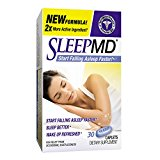 Sleep MD Sleep Aid, Non-Habit Forming Sleep Aid Featuring Valerian and Melatonin, 30 Count