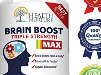 HEALTH NURTURE BRAIN BOOST MAXIMUM STRENGTH – Best Brain Supplement – Nootropics Brain Booster, Memory Support,Vitamins for Brain Health, Best Mind Supplements, Focus,Clarity & Cognitive Function