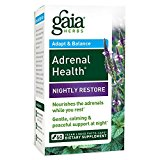 Gaia Herbs Adrenal Health Nightly Restore Vegan Liquid Phyto-Caps Herbal Supplement, with Adaptogens (Ashwagandha, Vervain, Magnolia bark, Mimosa bark) for Sleep Cycle Support, 60 count