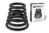 RhinoRing Erection Enhancing Cock Ring - 6 Pack - 100% Pure Silicone Rubber Penis Rings Set Various Sizes - Get Harder Last Longer - Cockring Better Sex Toy - Matte Black