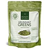 ORGANIC SUPER GREENS Powder | Raw Green Smoothie Superfood Drink Mix - Boost Energy & Vitality, Abundant Vitamins, Minerals, Antioxidants, Pleasant Taste, Non-GMO, Vegan Supplement, 38 Servings