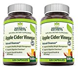 Herbal Secrets Apple Cider Vinegar 500mg 120 Capsules, 2 Pack