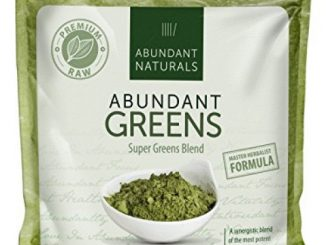 ORGANIC SUPER GREENS Powder | Raw Green Smoothie Superfood Drink Mix – Boost Energy & Vitality, Abundant Vitamins, Minerals, Antioxidants, Pleasant Taste, Non-GMO, Vegan Supplement, 38 Servings